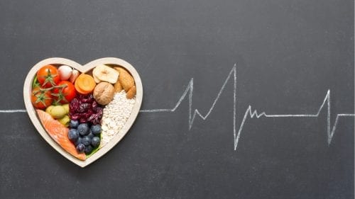 be the best me healthy food combo in heart plate